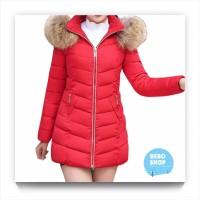 Jaket mantel bulu parasut musim dingin wanita/Winter coat jacket women