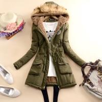 Jaket parka Bulu hangat musim dingin wanita/winter jacket coat women