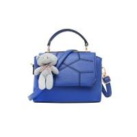 Tas Jinjing motif kulit ular polos biru blue simple wanita perempuan