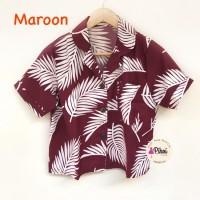 baju / Pantai / Kemeja Lengan pendek / summer shirt / daun / beach 974