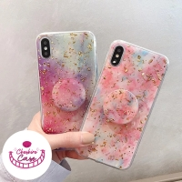 Colorful Glittery With Ring Softcase iPhone 6s 7 8 Plus XR Xs Max