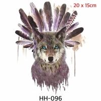 Wolf tattoo - stiker kulit serigala HH 096