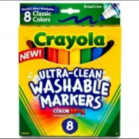 Spidol anak crayola ultra clean washable markers, gampang dicuci isi 8