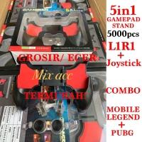 Gamepad 5 In 1 Combo Paket PUBG L1R1 L1 R1 Mobile Legend joystick