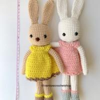 Boneka Amigurumi Rajut Kelinci Bunny Dress Kado Newborn Photography