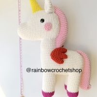Boneka Amigurumi Rajut Unicorn Kado Properti Newborn Photography