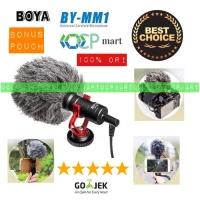 Microphone BOYA BY-MM1 MM1 Shotgun Mic Kamera Dslr Hp Mirrorless Slr