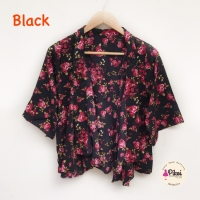 Floral Outer / Luaran Bunga / Cardigan motif murah / Kimono ikat bunga