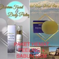 Paket Hemat Gloweren Peeling & Bkev Sabun Dead Sea Mud