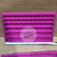 Silicone Mould Mixed 3 types / cetakan silikon motif campur 3 tipe
