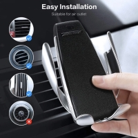 Wireless Car Charger Air Vent Automatic Clamping Mount Holder 10W Fast