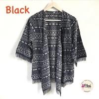 506 Cardigan Etnik Fringe / Cardi Rumbai Navy / Outer Batik / outwear