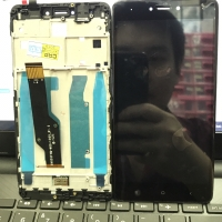LCD FULL SET PLUS FRAME REDMI NOTE 4X ORI OEM BLACK ONLY