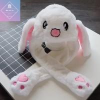 [Ready Stok] Rabbit Hat / Topi Kelinci Telinga Bergerak Versi TIKTOK