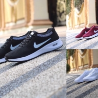 db828d2fde7f9 Sepatu Wanita - Nike Air Zoom Flyknit Black White Red - GO