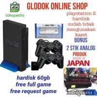 PS2 fat hardisk 60gb ekternal paket lengkap