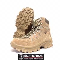 "Sepatu TAG army outdoor tactical boots 8"" zipper desert"