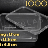 1000 ML Food Container / Wadah Plastik / Cup Pudding Microwaveable