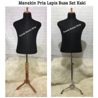 Manekin Pria Lapis Busa/Foam Set Tiang Besi