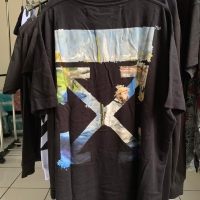Off White Colored Arrow Print T-Shirt Black Multicolor Super Oversize
