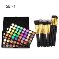 POPFEEL EYESHADOW / POPFEEL 120COLOR EYESHADOW SAMA BRUSH 10PC