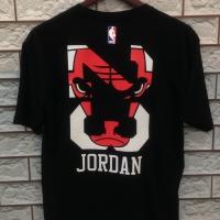 T-shirt/kaos.NBA Logo.JORDAN.Chicago Bulls.Black