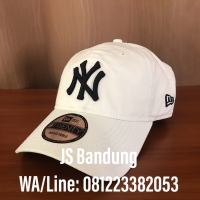 4433b9280 Topi Baseball Cap MLB Authentic New Era New York Yankees 9TWENTY White