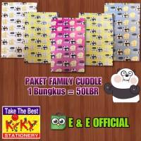 PAKET KERTAS KADO KIKY FAMILY CUDDLE / CUTE PANDA (50 LEMBAR) MURAH !!