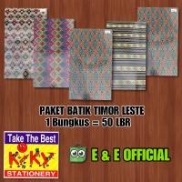 PAKET KERTAS KADO KIKY BATIK TIMOR LESTE (50LBR) / KADO TERMURAH
