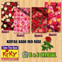 KERTAS KADO KIKY RED ROSE / BUNGA / KEMBANG