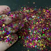hexagon glitter hologram glitter slime make up glitter craft nail art