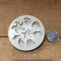 Silicone Mould Sea Animals 8Cav / cetakan silikon binatang laut isi 8