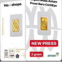 2 gram Gold Bar/Logam Mulia Antam Press Baru CertiEye Emas Asli 99.99%
