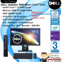 DELL Optiplex 3060 Micro Intel Core i5-8400/8GB/500GB/WIN10PRO