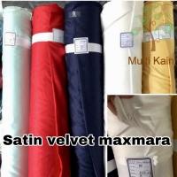 Bahan Kain Satin / saten Maxmara Velvet Polos Meteran