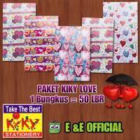 PAKET KERTAS KADO KIKY LOVE / PANAH CINTA / CINTA (50LEMBAR) MURAH !!!