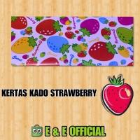 KERTAS KADO STRAWBERRY / SWEET STOBERI / KADO STOBERRY / KADO MURAH