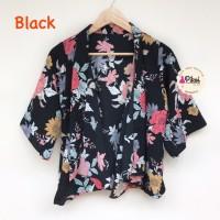 Floral outer / cardigan bunga / luaran satin / cardigan wanita summer