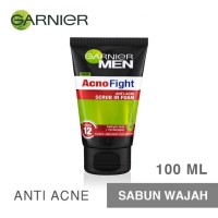 Garnier MEN Acno Fight Foam 100ml - Pembersih Wajah Pria Anti Jerawat