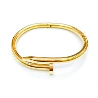 Gelang Titanium Paku Cartier Gold Polos Keren Mewah Awet