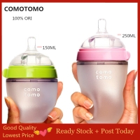 Comotomo single Botol Silikon Botol Susu Bayi 250ML Dan 150ML 1 Botol
