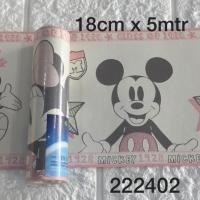 Harga wallpaper dinding border list mickey mouse pink | antitipu.com