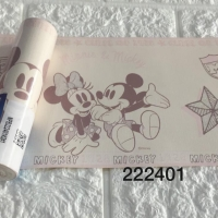 Harga wallpaper dinding border list mickey mouse pink soft | antitipu.com