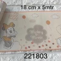Harga wallpaper dinding border list mickey dan minnie | antitipu.com