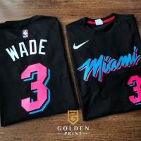 Miami heat tshirt / wade tshirt / kaos nba / kaos basket