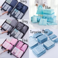 PANACHE - Travel Luggage Packing Organizer with Shoes Bag, 8 pcs 1 Set