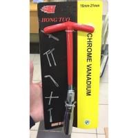 Harga kunci busi 8 inch 16mm dan 21mm 2 mata fleksibel kunci t mobil | Pembandingharga.com