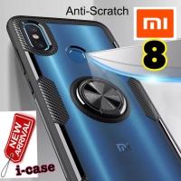 New i-case Xiaomi Mi 8 Mi8 Hybrid iring Stand Clear