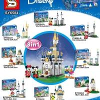 SY 6584 Mini Disney Castle 8 in 1