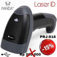 Barcode Scanner Laser Tangan 1D PANDA PRJ-818 USB (Tanpa Stand)